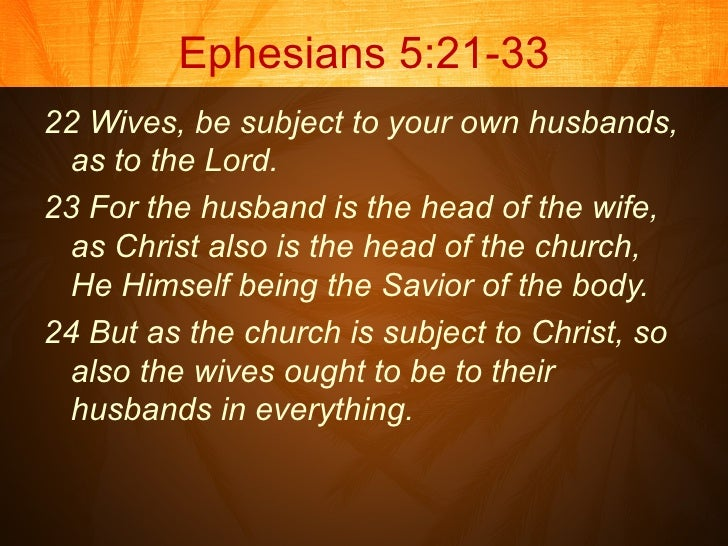 head of household christian marriage