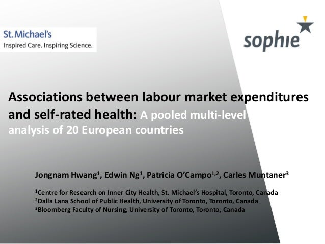 Associations between labour market expenditures  and self-rated health: A pooled multi-level  analysis of 20 European coun...