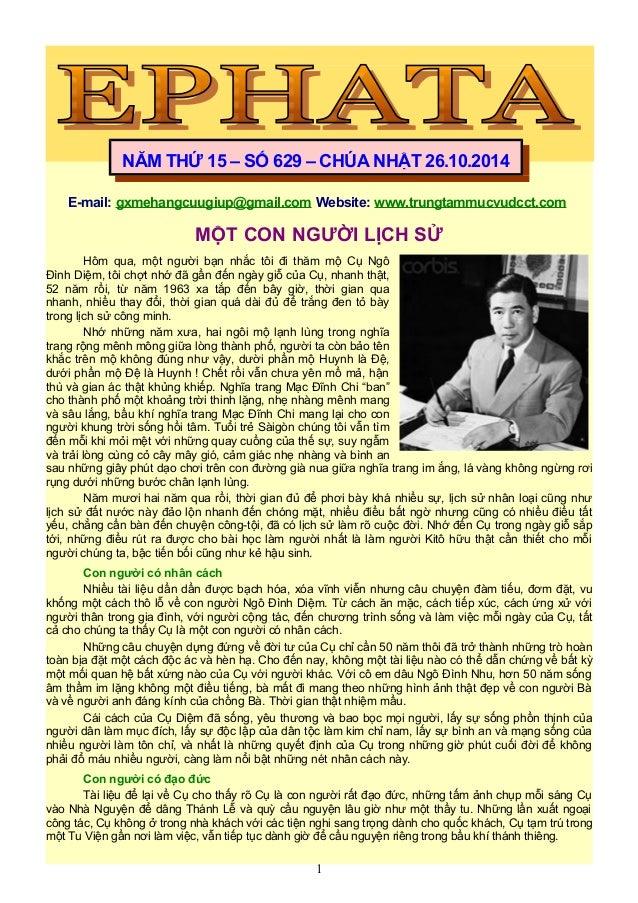 E-mail: gxmehangcuugiup@gmail.com Website: www.trungtammucvudcct.com MỘT CON NGƯỜI LỊCH SỬ Hôm qua, một người bạn nhắc tôi...