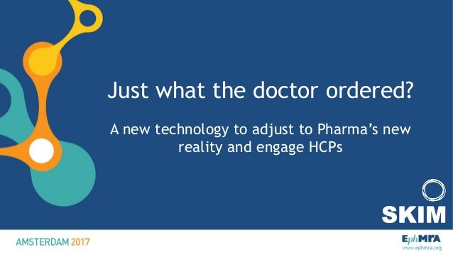 Just what the doctor ordered? A new technology to adjust to Pharma's new reality and engage HCPs