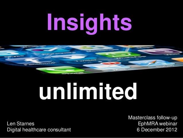 Insights              unlimited                                Masterclass follow-upLen Starnes                        Eph...