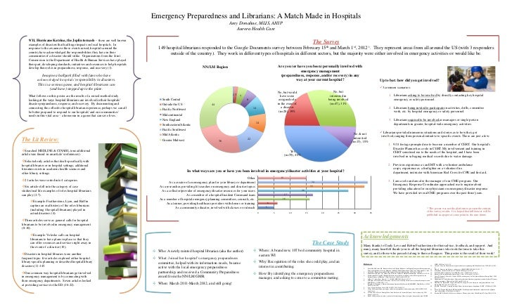Emergency Preparedness and Librarians: A Match Made in Hospitals                                                          ...