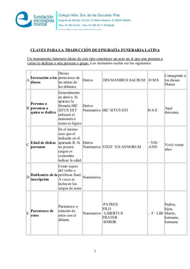 Colegio Ntra. Sra. de las Escuelas Pías Eugenia de Montijo, 83 (por C/ Madre Nazaria, 4) 28044 Madrid Tfno. 91 465 44 00 -...
