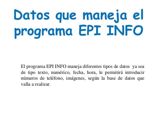 Epi info Slide 2