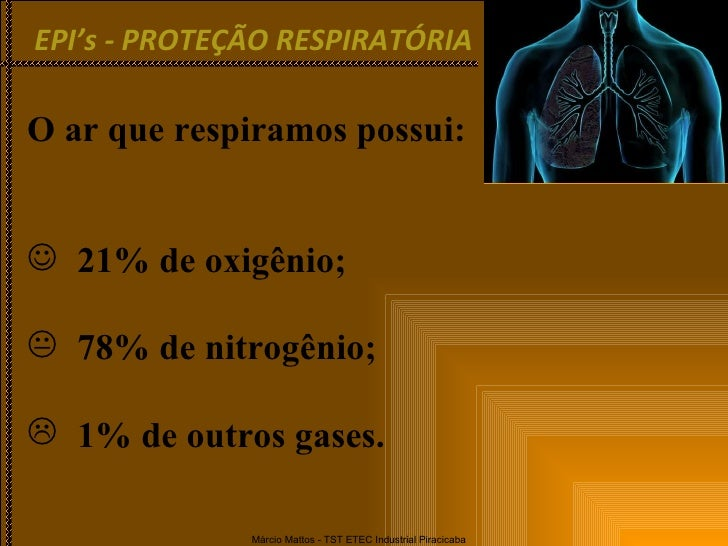 <ul><li>O ar que respiramos possui: </li></ul><ul><li>21% de oxigênio; </li></ul><ul><li>78% de nitrogênio; </li></ul><ul>...