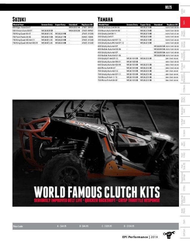 Arctic Cat MudPro GT H1 650//700 EPI Severe Duty CVT Drive Belt WE264010