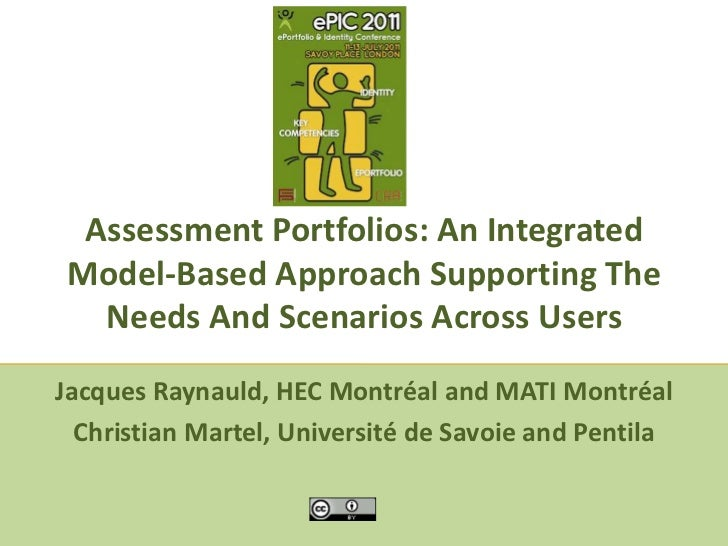 Assessment Portfolios: An Integrated Model-Based Approach Supporting The Needs And Scenarios Across Users<br />Jacques Ray...