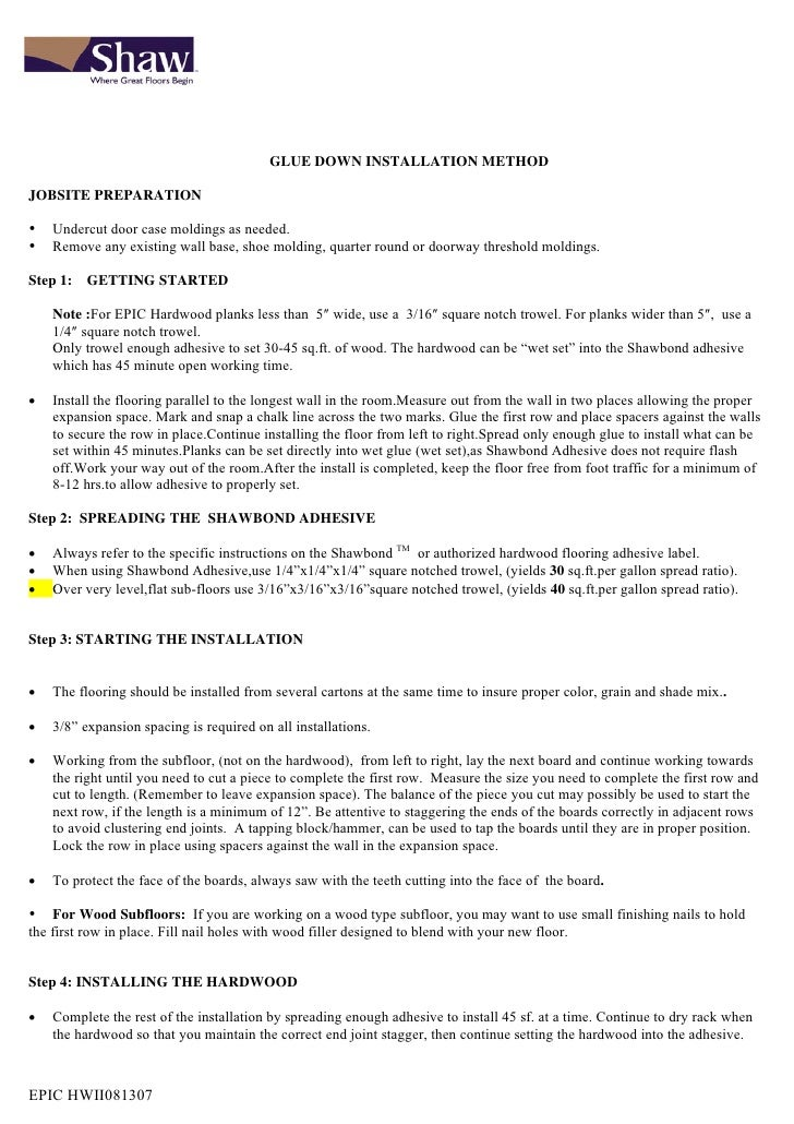 Epic 3 8 Installation Instructions
