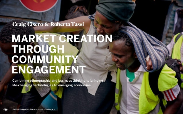 Combining ethnographic and business thinking to bringing  life-changing technologies to emerging economies. Craig Cisero ...