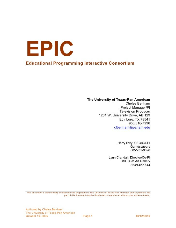 Epic educational programming interactive consortium