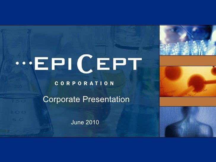 Corporate Presentation June   2010