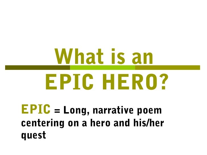 epic hero definition