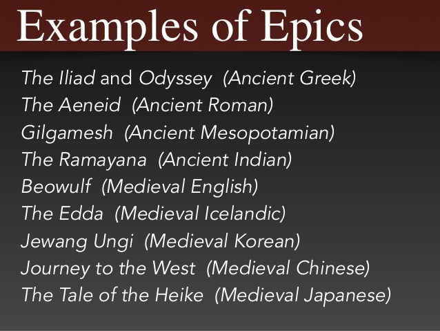 Exceptional 8. Examples Of Epics ...