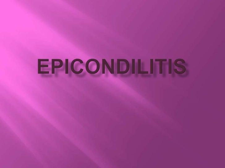 Epicondilitis<br />