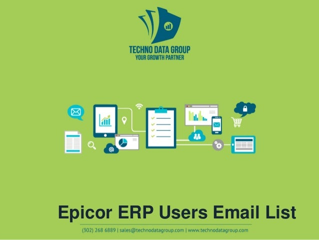 Epicor ERP Users Email List