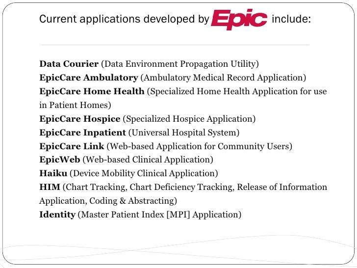epic presentation rh slideshare net Epic EMR Logo Epic EMR Screenshots