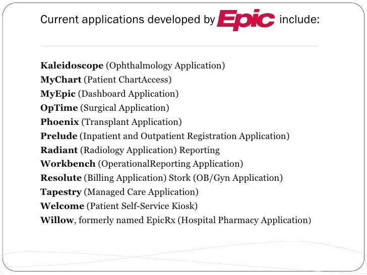 epic presentation rh slideshare net Epic Electronic Medical Record Epic EMR Test Templates