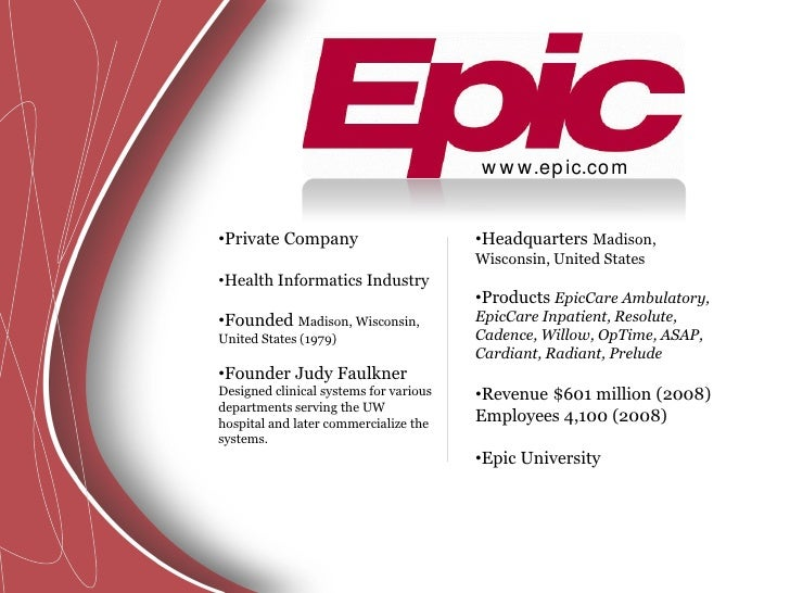 Emr Systems Epic
