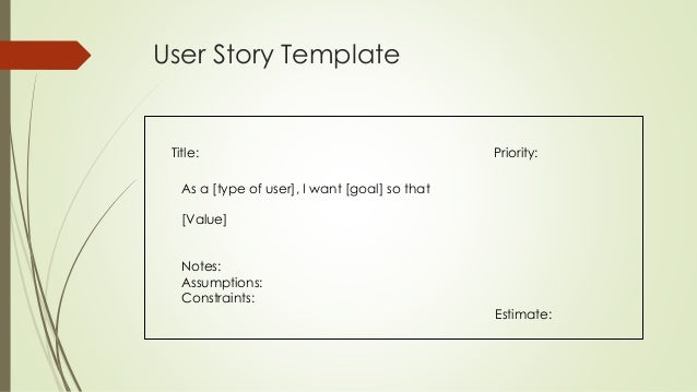 Epics and User Stories – User Story Template