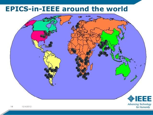EPICS-in-IEEE around the world 14   12/4/2012