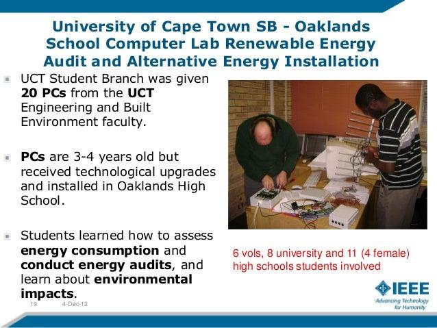 University of Cape Town SB - Oaklands      School Computer Lab Renewable Energy      Audit and Alternative Energy Installa...