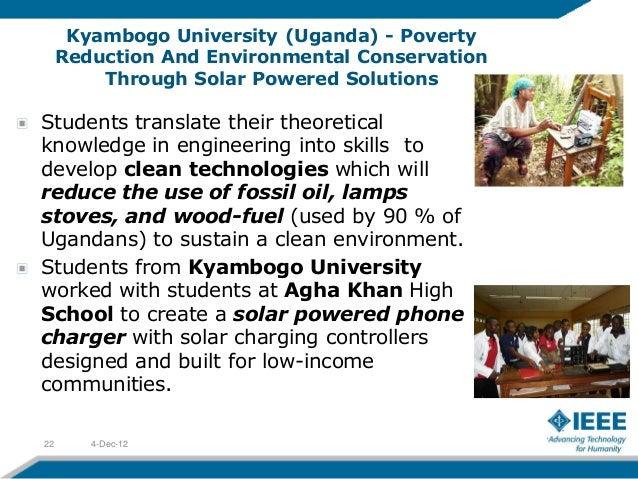 Kyambogo University (Uganda) - Poverty     Reduction And Environmental Conservation         Through Solar Powered Solution...