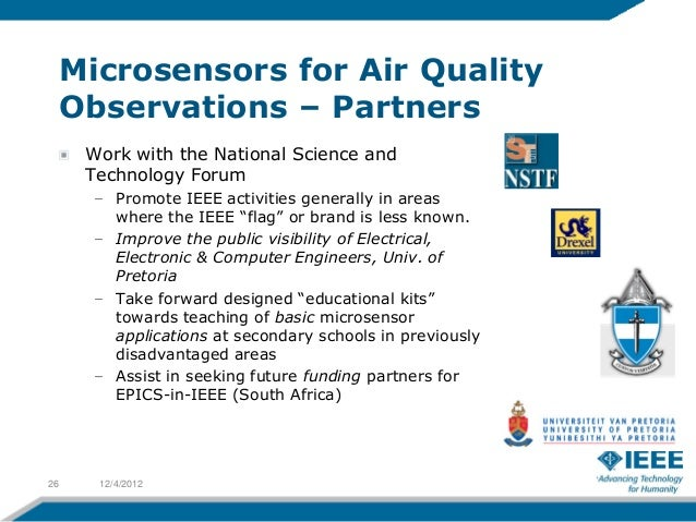 Microsensors for Air Quality     Observations – Partners      Work with the National Science and      Technology Forum    ...