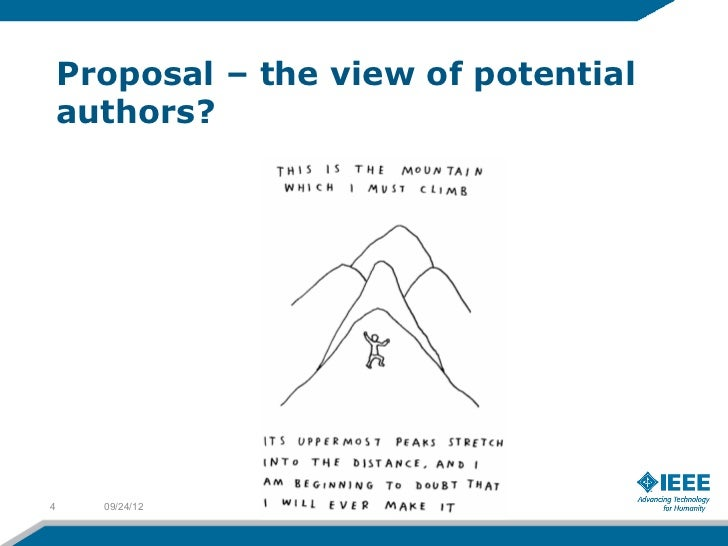 Proposal – the view of potential    authors?4     09/24/12