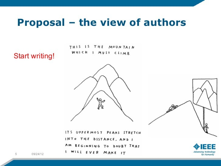 Proposal – the view of authorsStart writing!5     09/24/12