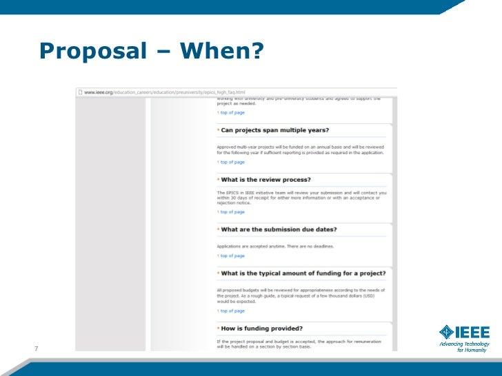 Proposal – When?7