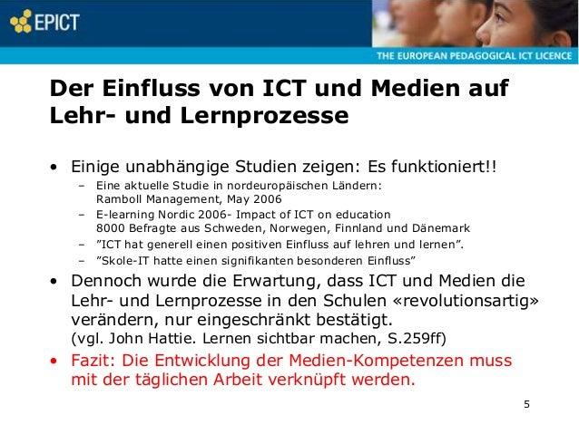 Der Einfluss von ICT und Medien auf Lehr- und Lernprozesse • Einige unabhängige Studien zeigen: Es funktioniert!! – Eine a...