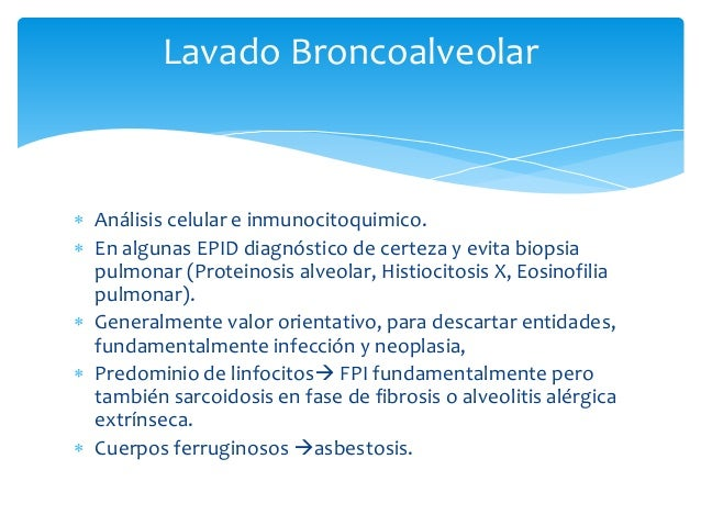 Bronquiolitis Respiratoria  BR-ILD