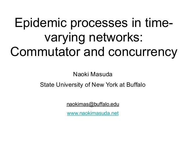 Epidemic processes in time- varying networks: Commutator and concurrency Naoki Masuda State University of New York at Buff...
