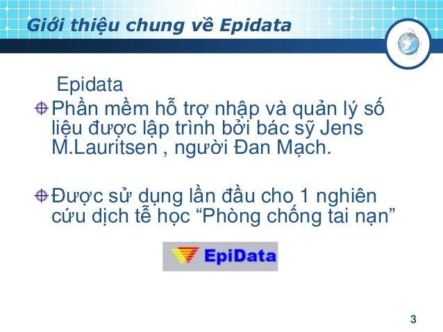 epidata analysis français