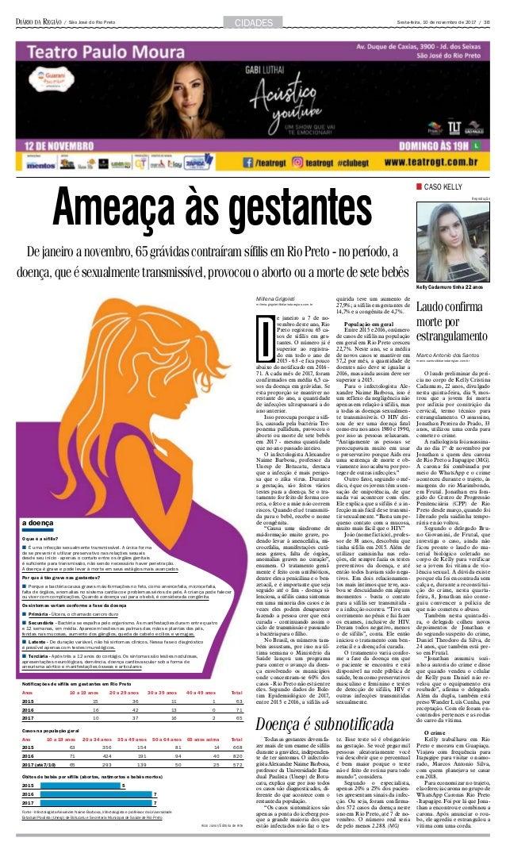 Sexta-feira, 10 de novembro de 2017 / 3B/ São José do Rio Preto CidadeS Todas as gestantes devem fa- zer mais de um exame ...