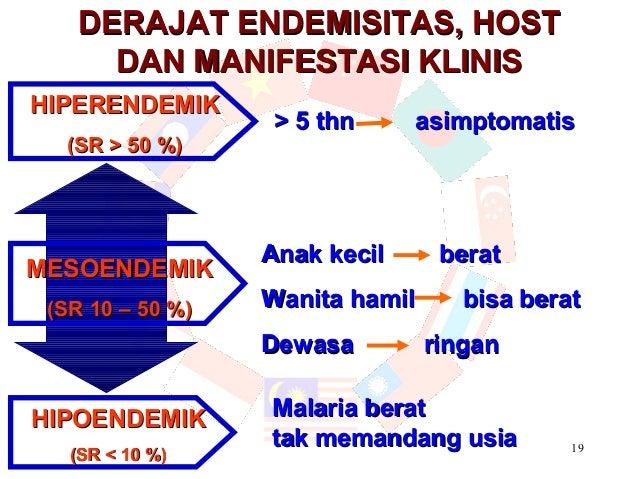 DERAJAT ENDEMISITAS, HOST     DAN MANIFESTASI KLINISHIPERENDEMIK                  > 5 thn      asimptomatis  (SR > 50 %)  ...