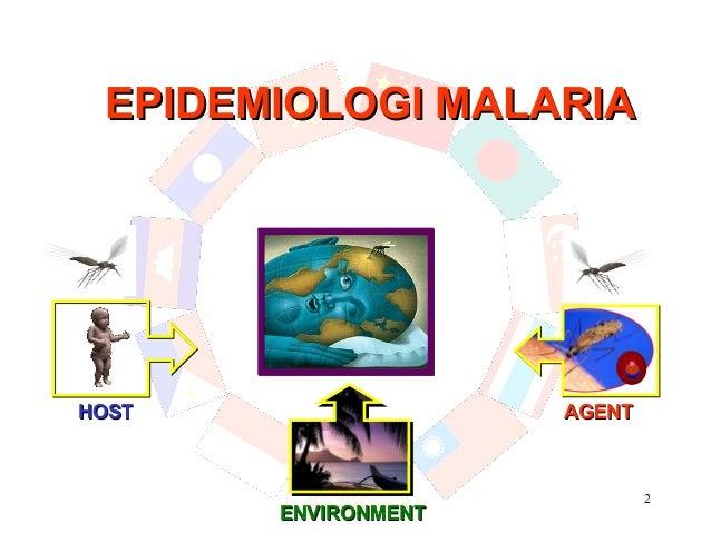 EPIDEMIOLOGI MALARIAHOST                 AGENT                             2       ENVIRONMENT