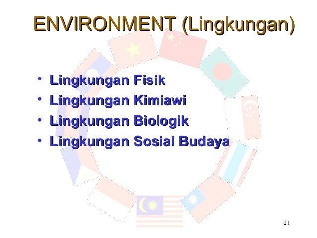 ENVIRONMENT (Lingkungan)•   Lingkungan Fisik•   Lingkungan Kimiawi•   Lingkungan Biologik•   Lingkungan Sosial Budaya     ...