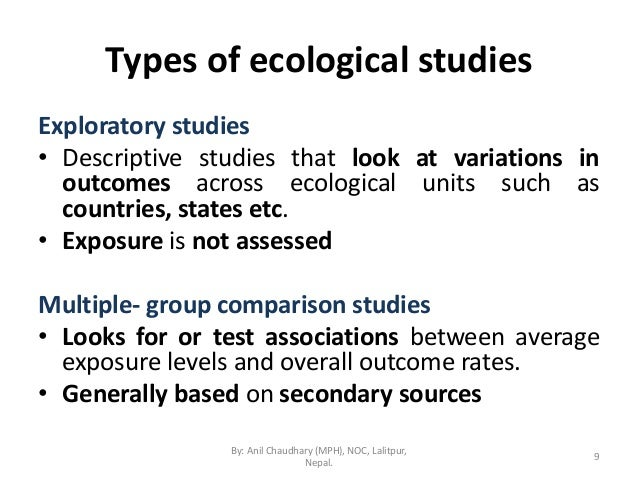 Epidemiologic study designs - Epidemiology learning materials