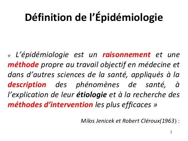 epidemiologie definition