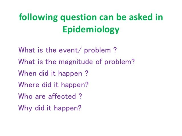 epidemiology - an introduction, Human body