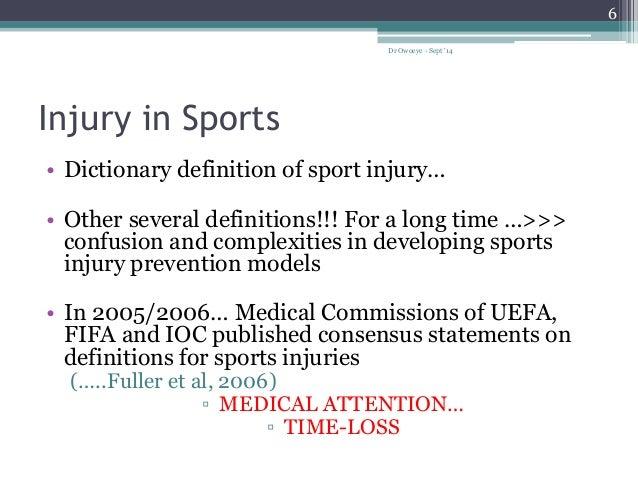 epidemiology of sports injuries in nigeria