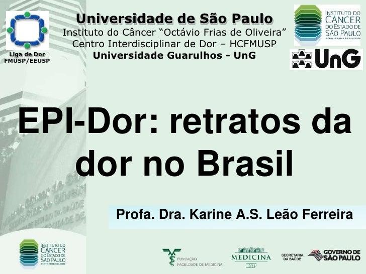 """Universidade de São Paulo                Instituto do Câncer """"Octávio Frias de Oliveira""""                  Centro Interdisc..."""