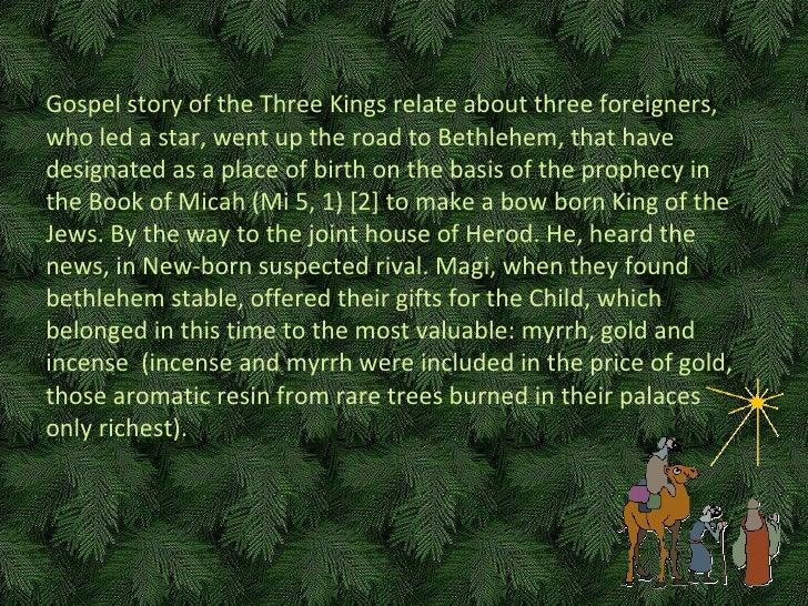 Ewangeliczna historia Trzech Króli opowiada o trzech cudzoziemcach, którzy, wiedzeni gwiazdą, wyruszyli w drogę do  Betlej...