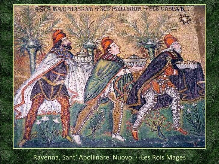 Ravenna, Sant' Apollinare  Nuovo  -  Les Rois Mages