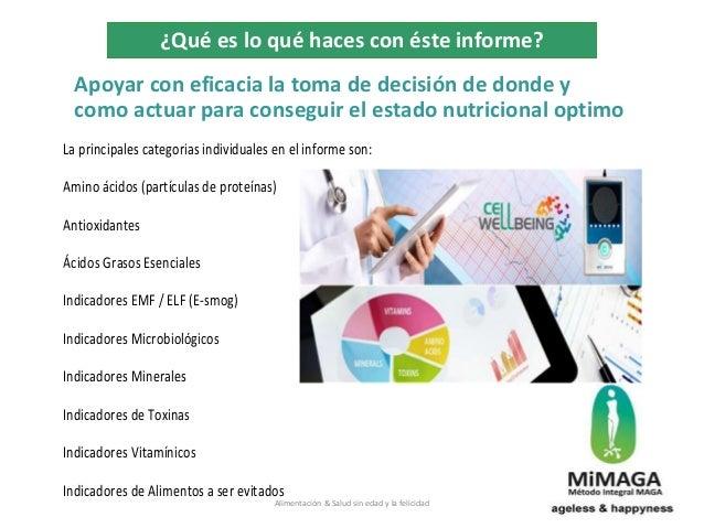 Apoyar con eficacia la toma de decisión de donde y como actuar para conseguir el estado nutricional optimo La principales ...