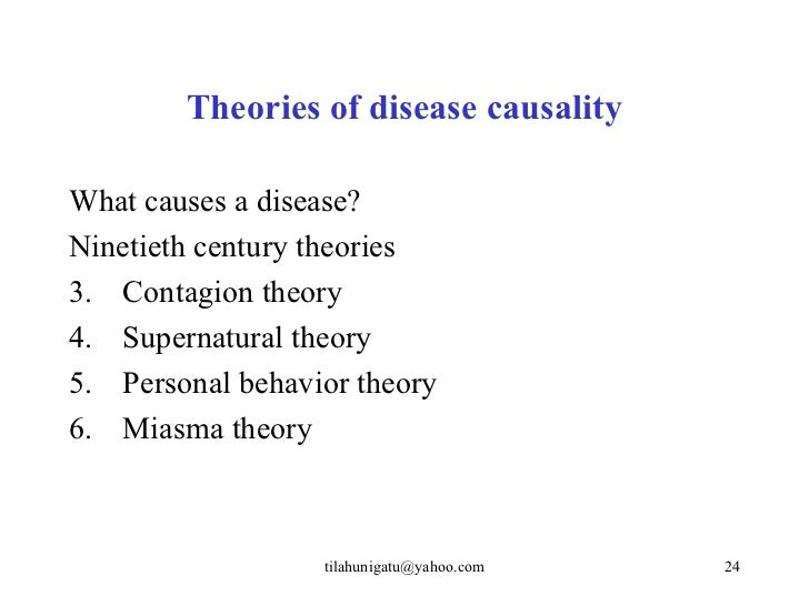 Epidemiology Causes of Diseases