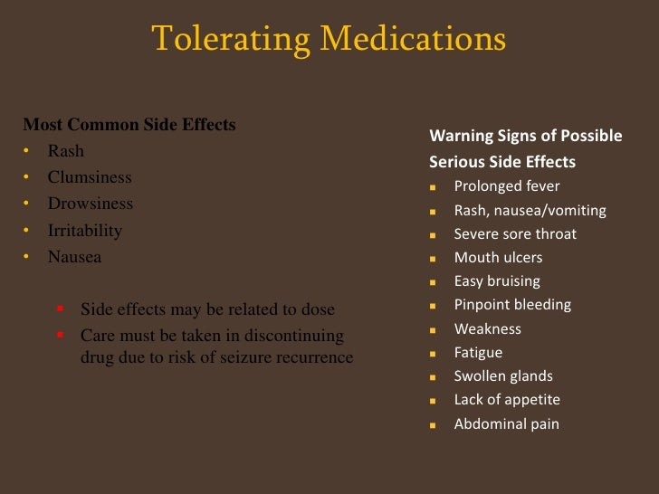 Seizure Triggers<br />Missed medication (#1 reason)<br />Stress/anxiety<br />Hormonal changes<br />Dehydration<br />Lack o...