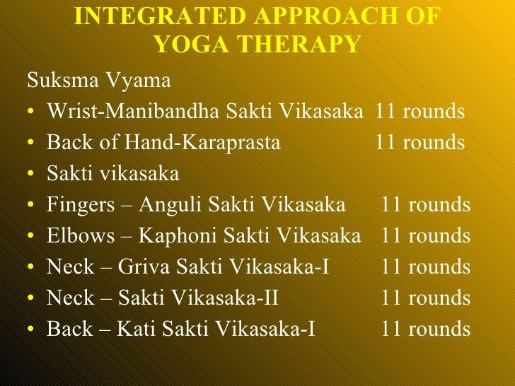 <ul><li>Suksma Vyama </li></ul><ul><li>Wrist-Manibandha Sakti Vikasaka 11 rounds </li></ul><ul><li>Back of Hand-Karaprasta...