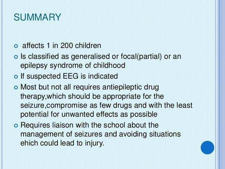 Epilepsy in children by Dr.Shanti